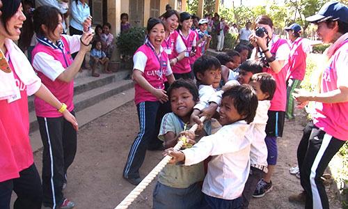 カンボジアスタディツアーボランティア体育