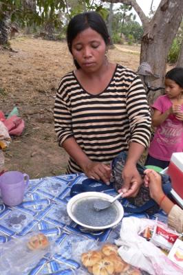 カンボジアの屋台のかき氷屋さん