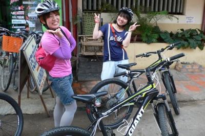 カンボジアで自転車をレンタル