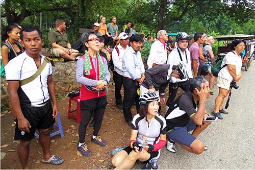 カンボジア・サイクリングツアー2014 アンコール遺跡&田舎道を走る 2日目 プノン・サンパウ14