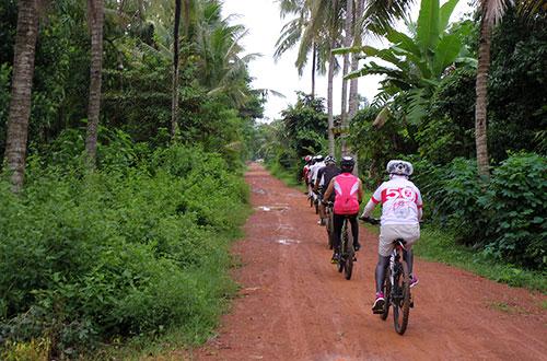カンボジア・サイクリングツアー2014 アンコール遺跡&田舎道を走る 3日目 バンブートレイン5