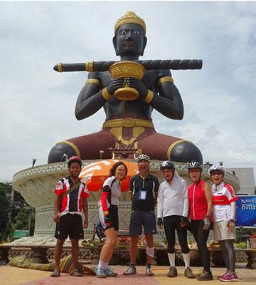カンボジア・サイクリングツアー2014 アンコール遺跡&田舎道を走る 3日目 バンブートレイン9