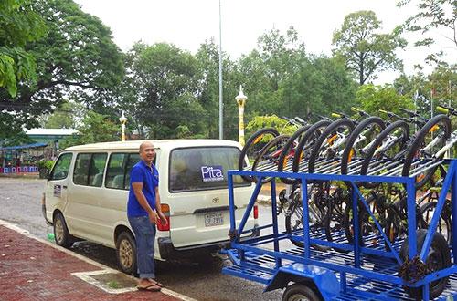 カンボジア・サイクリングツアー2014 アンコール遺跡&田舎道を走る 4日目 コーケー遺跡群1