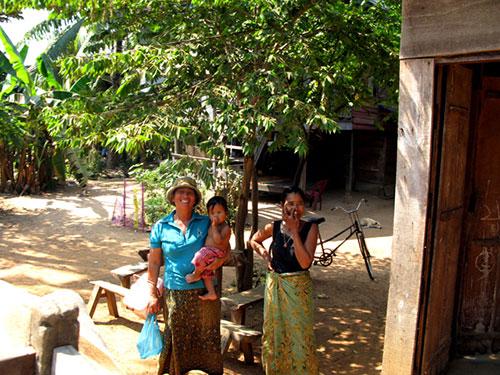 カンボジアの村人たち