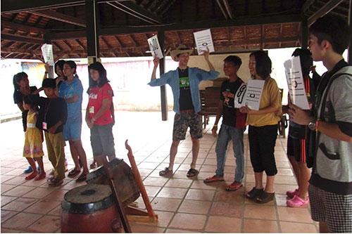 カンボジアツアー(スナーダイクマエ孤児院)2日目 太鼓で交流