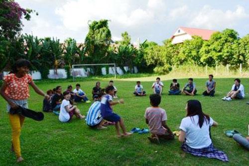 カンボジアツアー(スナーダイクマエ孤児院)4日目 交流