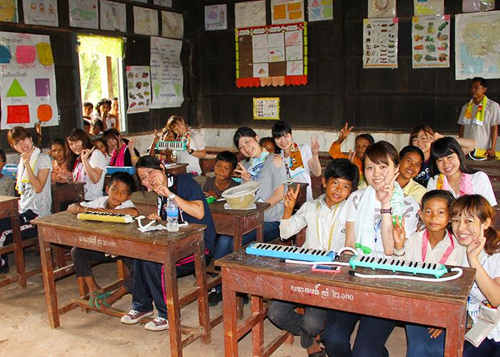 カンボジアスタディツアーボランティア 音楽