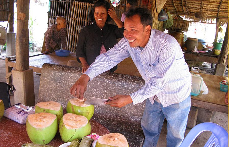 カンボジアのココナツジュース